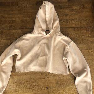 Tan crop hoodie